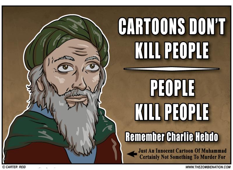Cartoons Don't Kill People, People Kill Poeple by zombiecarter