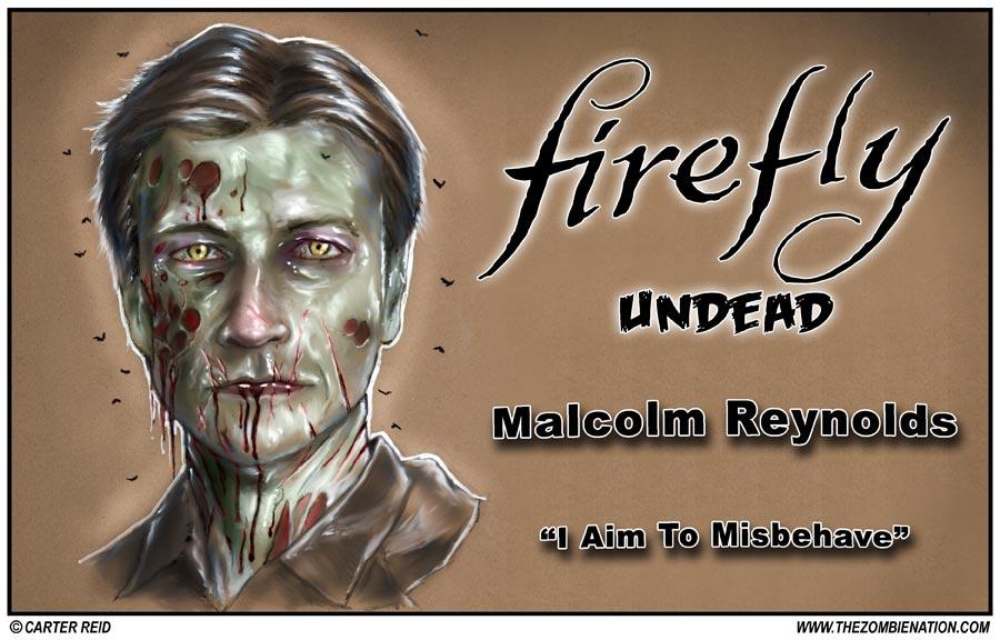 Malcolm Reynolds Zombified: Firefly Undead by zombiecarter