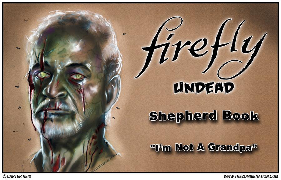 Shepherd Book Zombified: Firefly Undead by zombiecarter