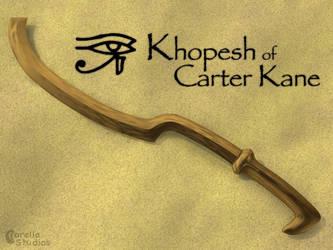 Khopesh of Carter Kane by CorellaStudios