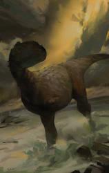 Rajasaurus on the Seaside by Rex-n-Lux