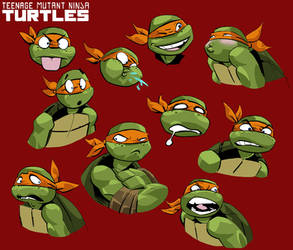 TMNT: Mikey's Expression by Ciro-nieli