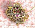 3D Beautiful heart pendant