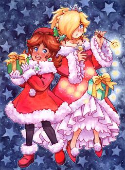 Holiday Cheer Daisy and Fire Rosalina