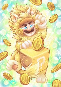 Super Big Golden Kitty Mario