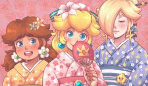 Princesses in kimono