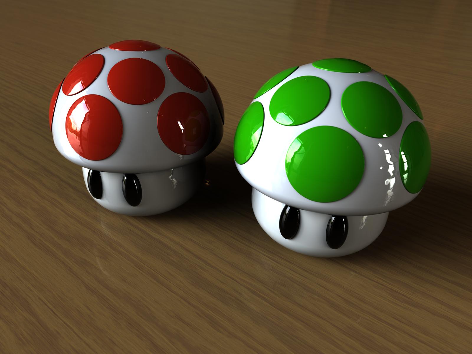 Marioshrooms r2 by BarberofCivil