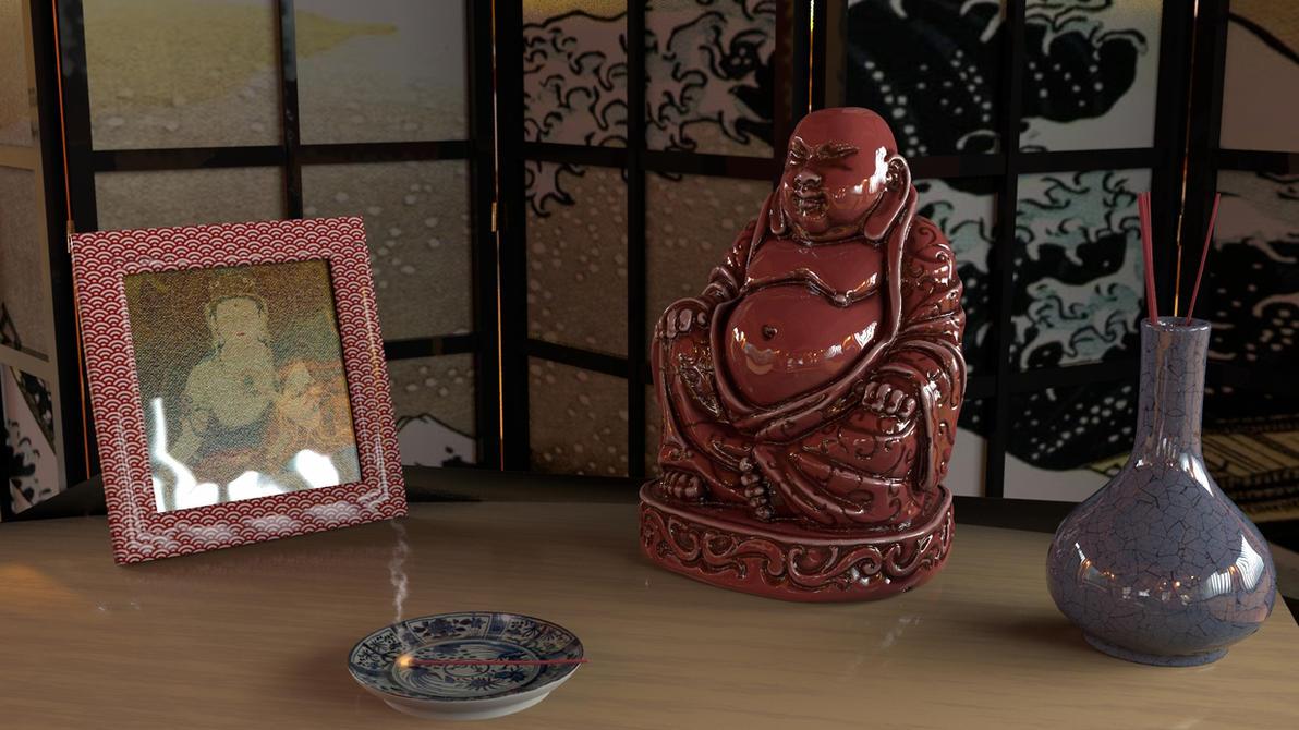 Smilin' Buddha 2 by BarberofCivil