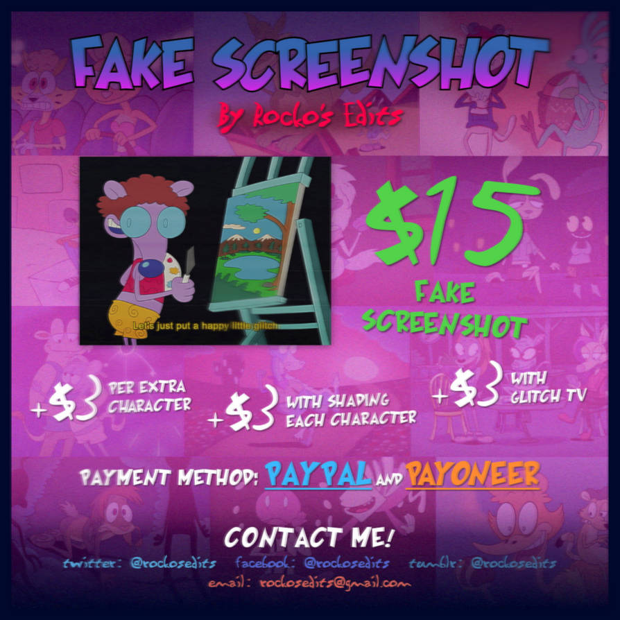 Fake Screenshot Commission V2 by LACardozaRojas