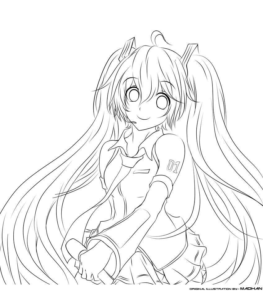 hatsune miku coloring pages - photo #16