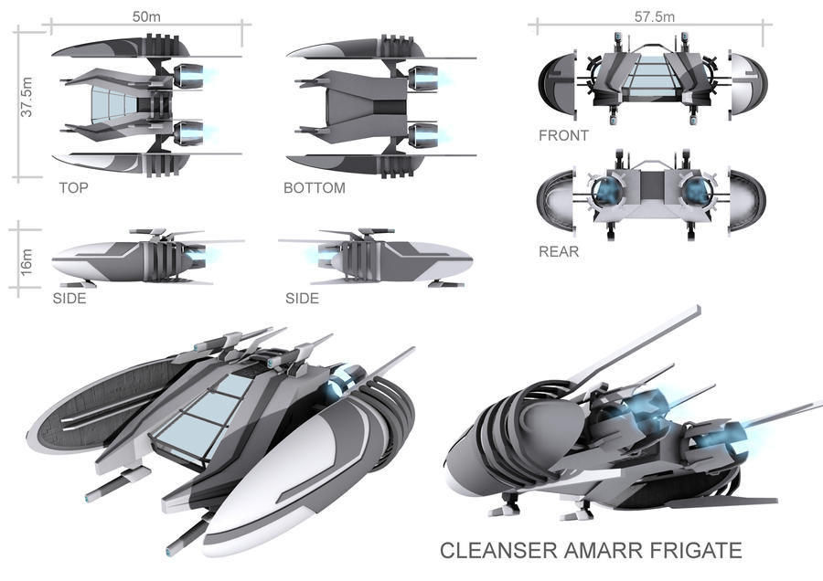 Cleanser Amarr Frigate 01 by GrimKayle