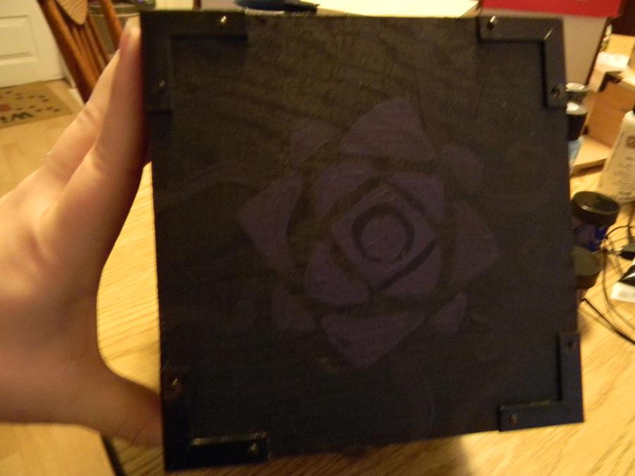 Purple flower jewelry box (outside) by RikuTsumi