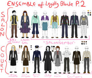 Legally Blonde Ensemble Costume Designs PT2 (Old) by wyvernscall