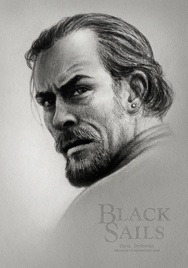 Black Sails -  Captain Flint (Toby Stephens) by MeduZZa13