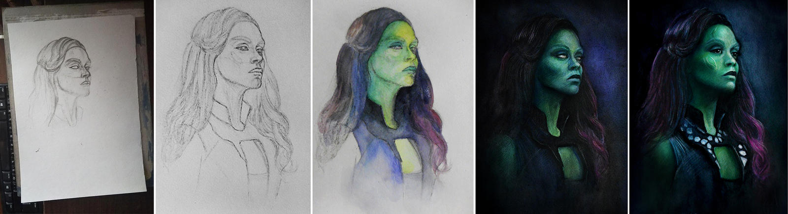 Gamora WIP by MeduZZa13