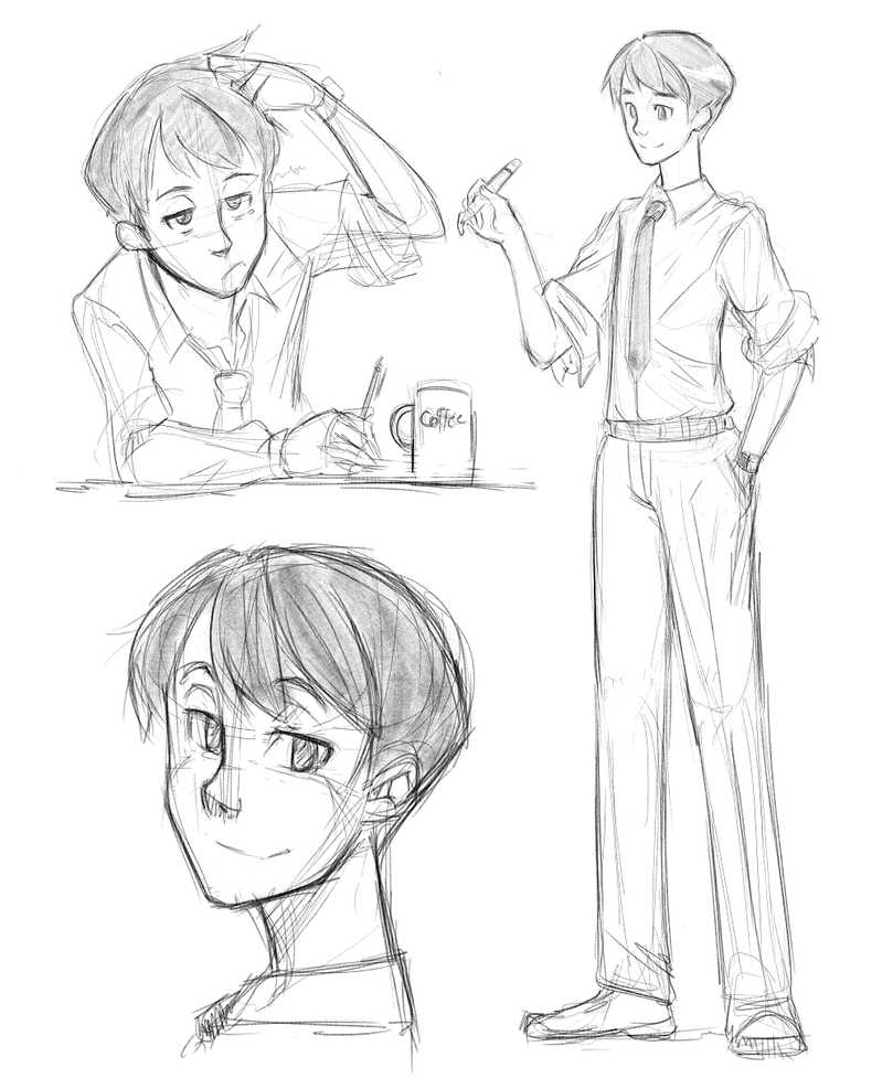Anime Character Design Sketch : Sketch male character by akio a on deviantart