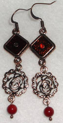 Red Rose Earrings by YenriStar