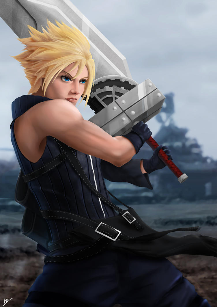 Final Fantasy VII - Advent Children Cloud Fan Art by AhYou
