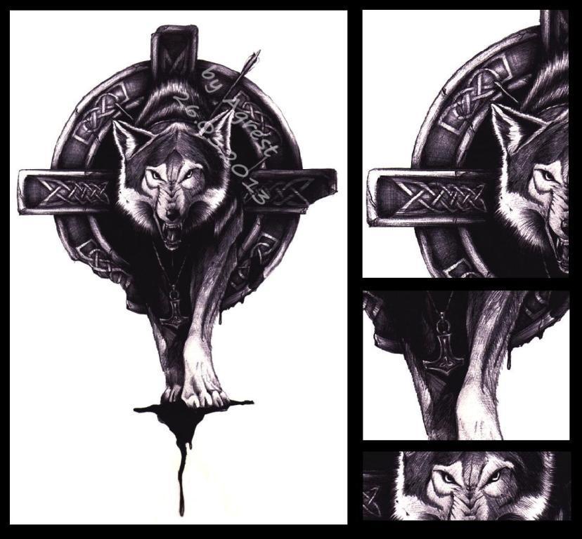Celtic Wolf Tattoo By AGRESTOWATA On DeviantArt
