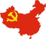 Chinese Communist Party flag map