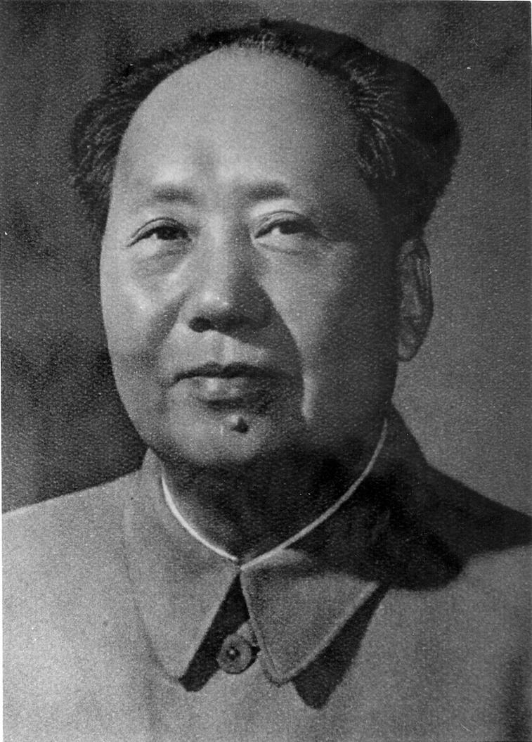 Mao Zedong portrait by... Group Of Young People
