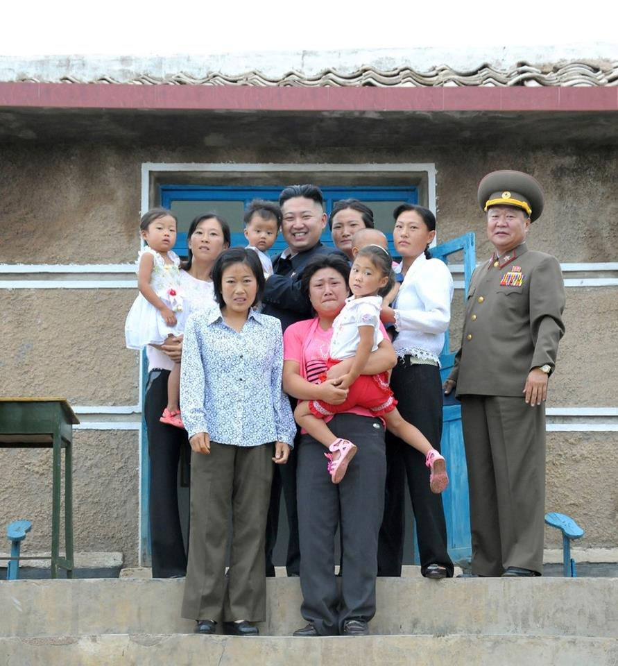 Kim jong un and a scared family by ShitAllOverHumanity
