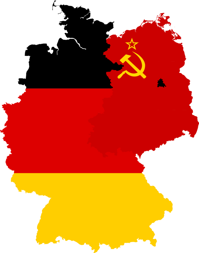 west germany east germany flag map by shitalloverhumanity