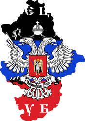 Donetsk People's Republic flag map