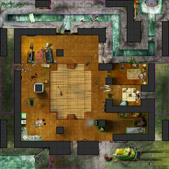 TMNT Heroclix Map by daerave