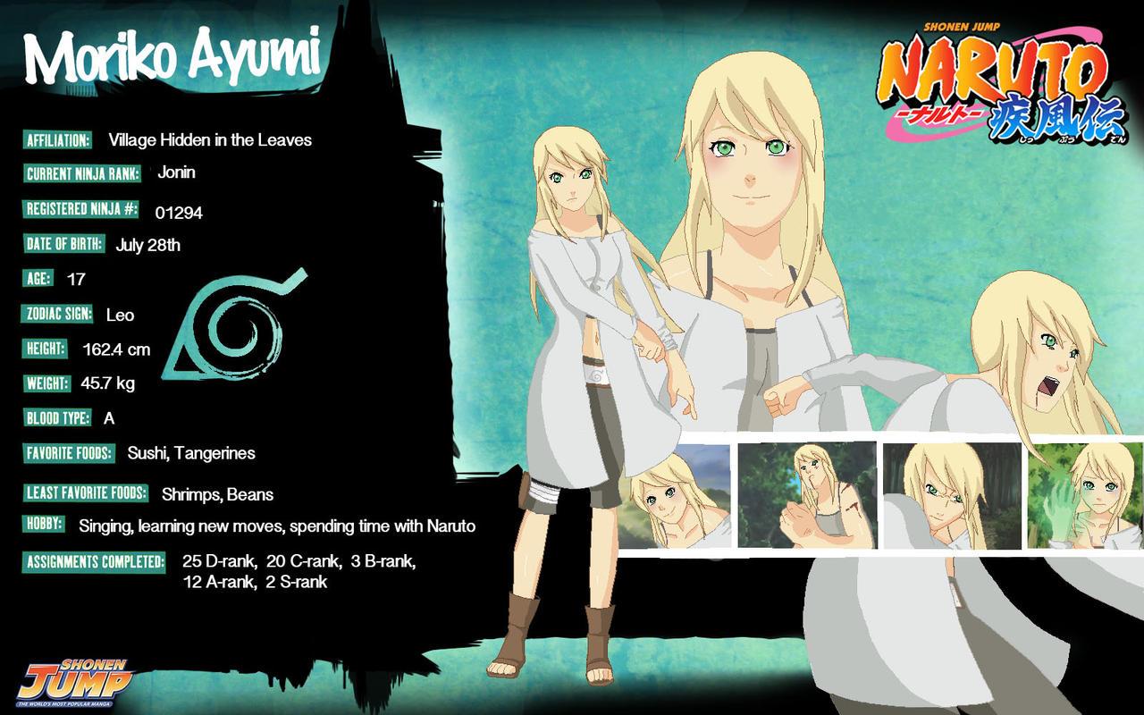 Moriko Naruto Character Template By MoriMori4184