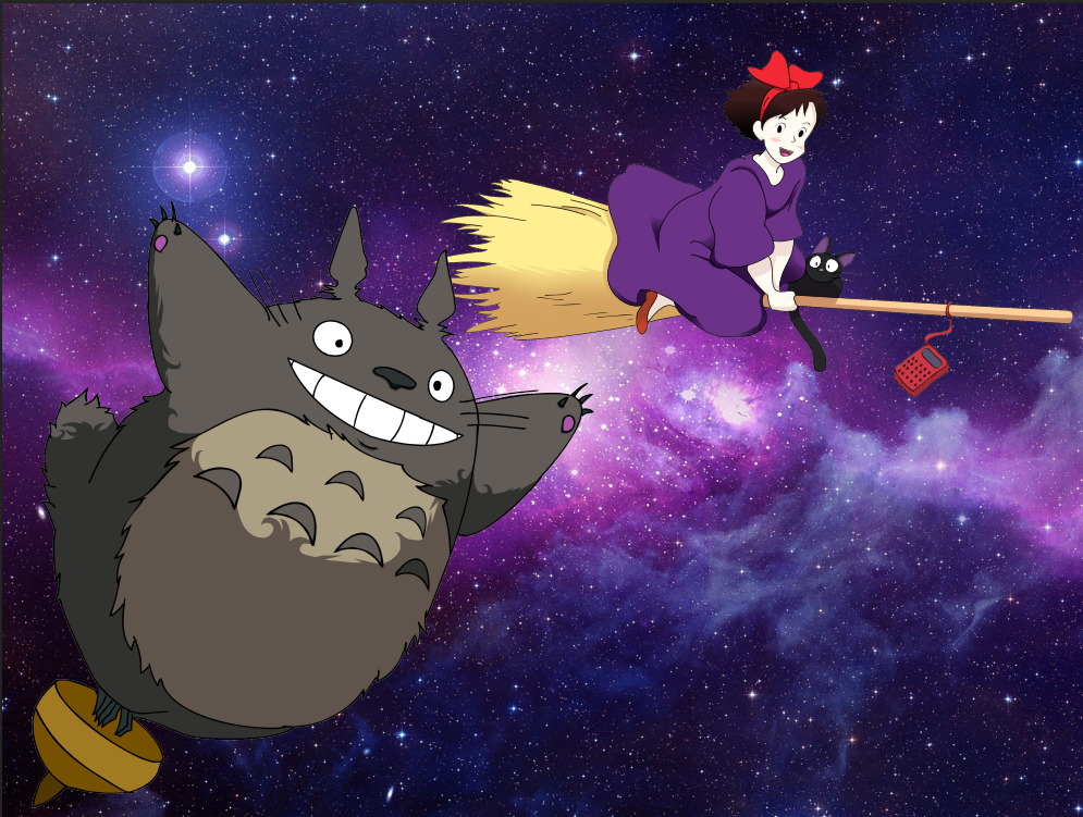 Kiki and Totoro by ThatOneGirl369
