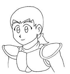 Main hero's face by FCM-NileSnake