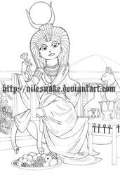 Egyptian Tarot SD: The empress by FCM-NileSnake
