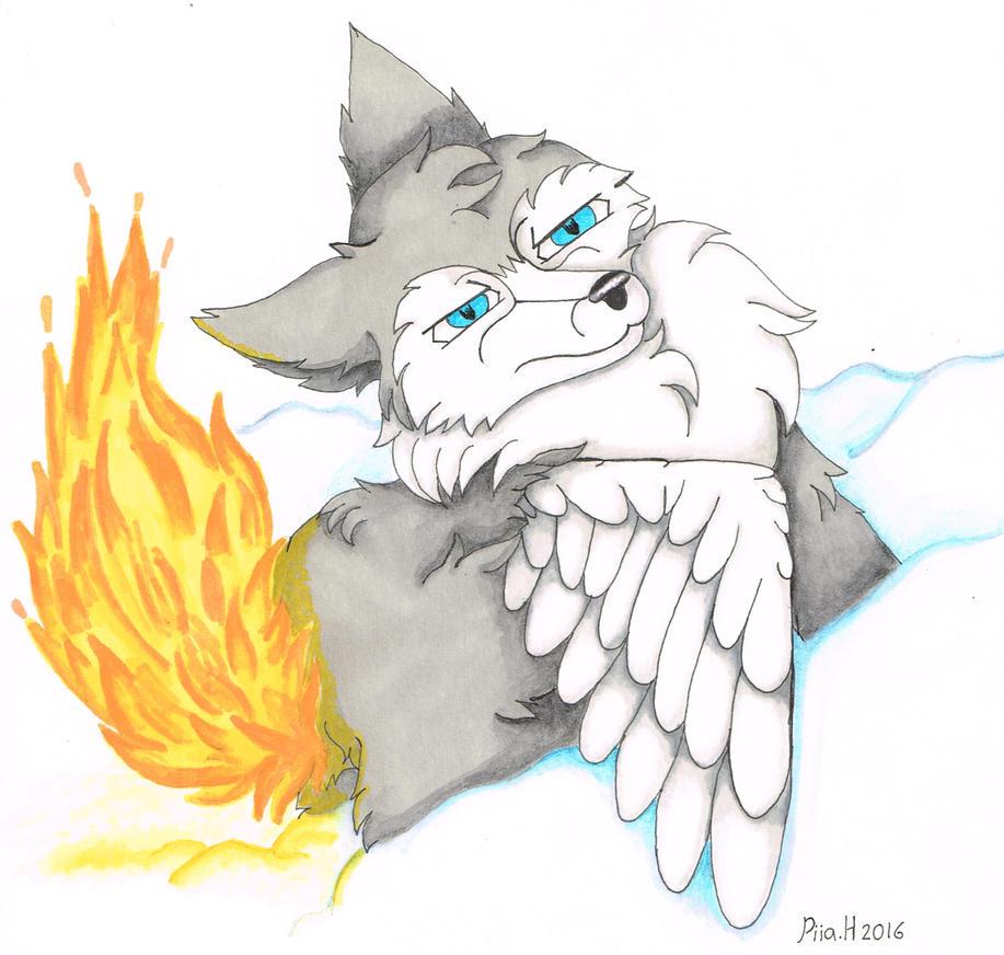art trade: fire tail by TanukiCutie