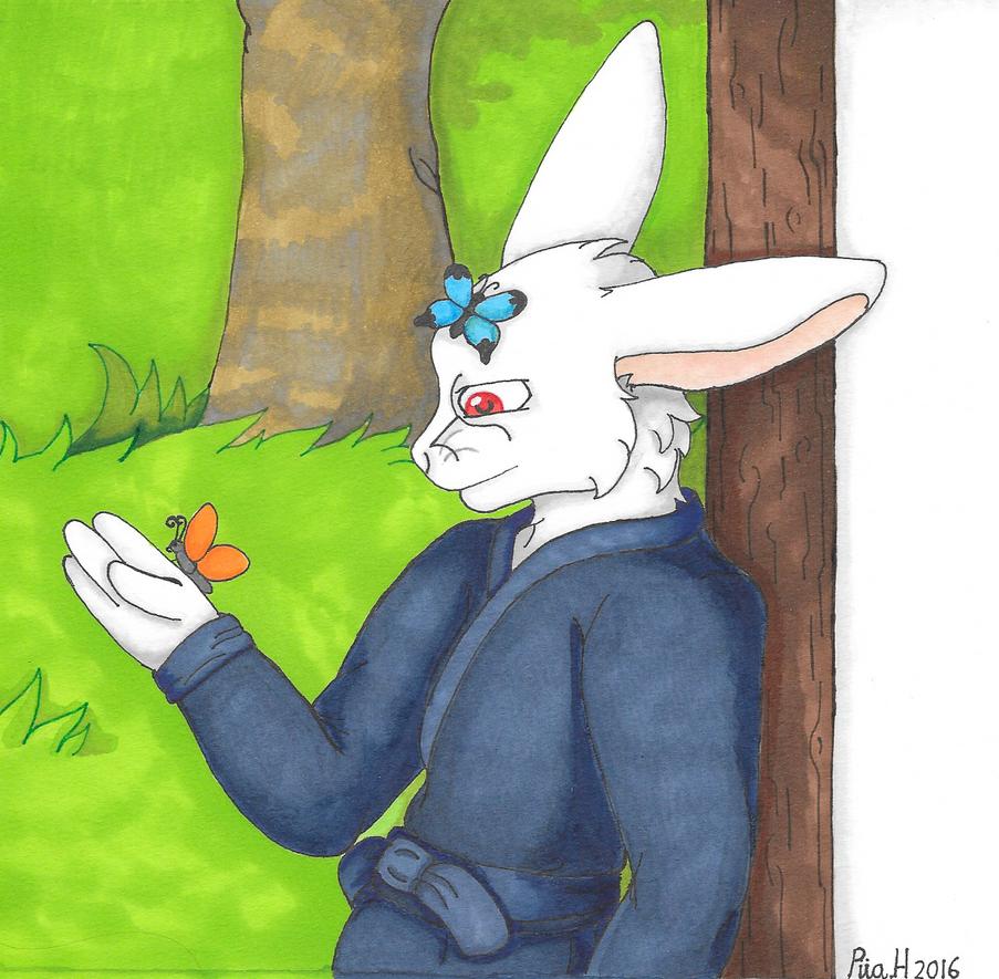 art trade: bunnyyy by TanukiCutie