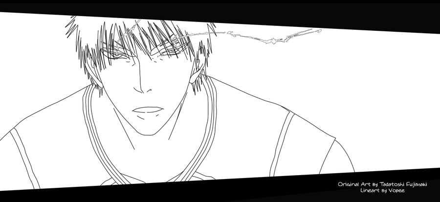 Line Art Kuroko : Kuroko no basket kagami trance lineart by vopee on