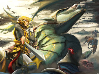 Kagamine Rin: Wyvern Riders by Hachijuu