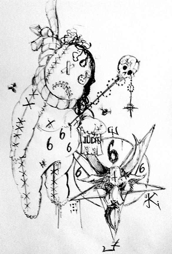 Voodoo Doll Sketch.. By DraculasHeart On DeviantArt