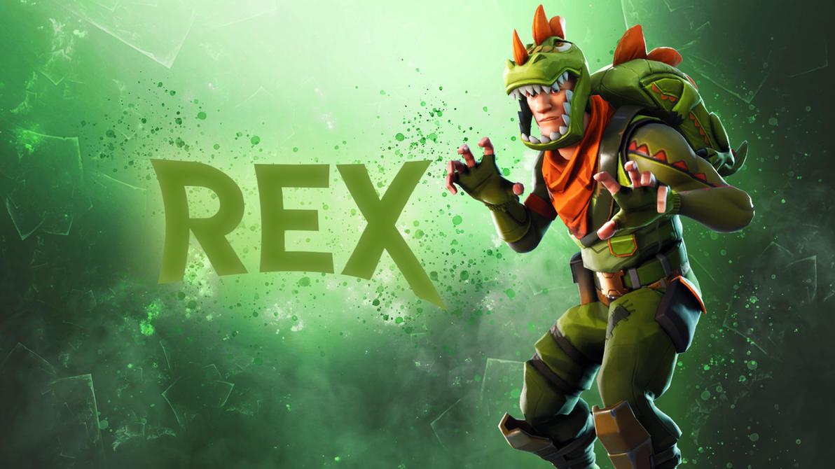 Fortnite Rex Skin Wallpaper By GalaxyDesigner