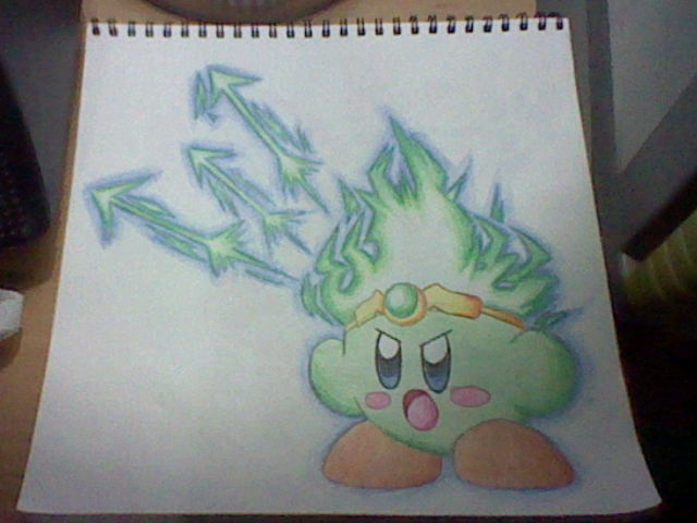 Spark Kirby by SuperMarioFan888