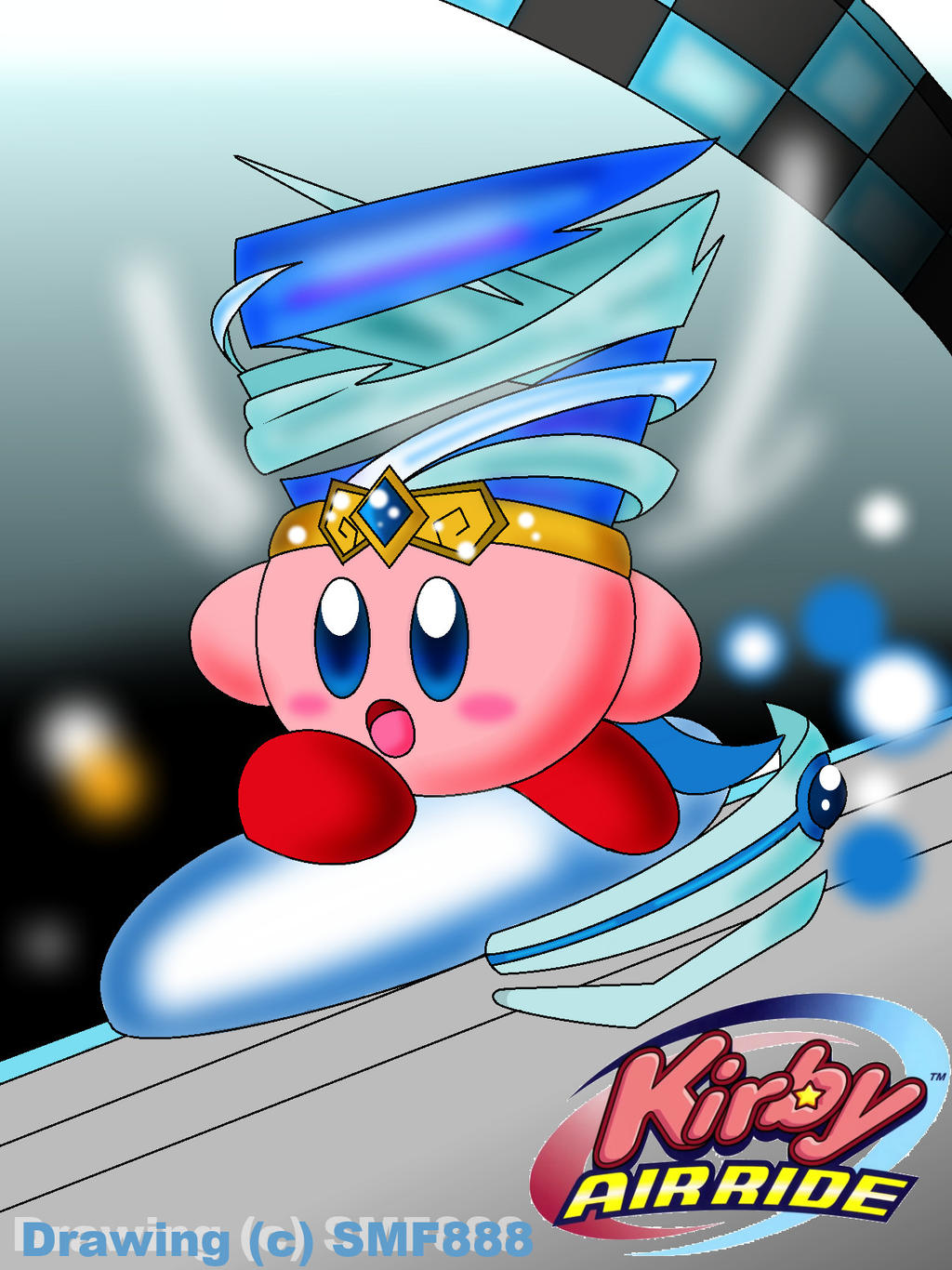 :Kirby: Racing Through by SuperMarioFan888