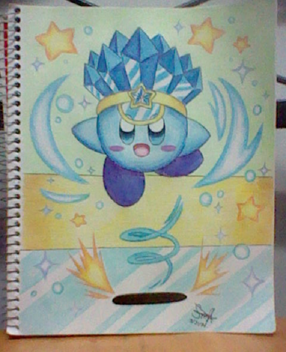 :Kirby: Ice Kirby Skates by SuperMarioFan888