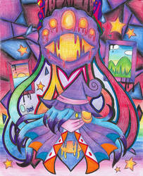 Kirby - 25th Anniversary 'Lost Sanity' by Plucky-Nova