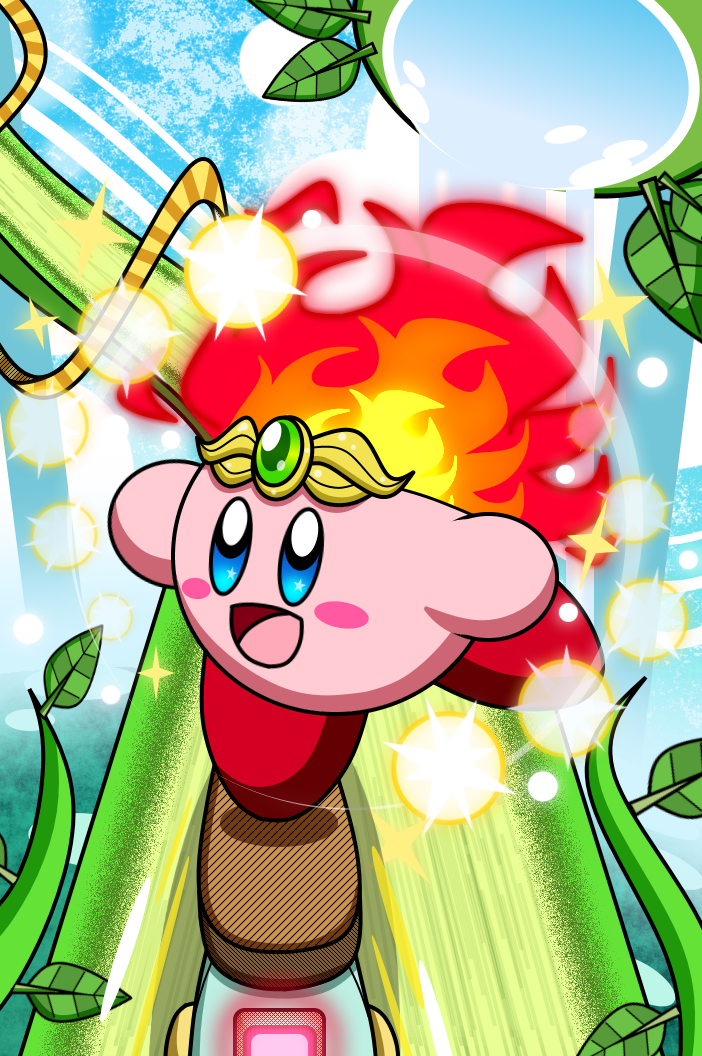 Kirby - Blazin' Through Beanstalk Park by Plucky-Nova