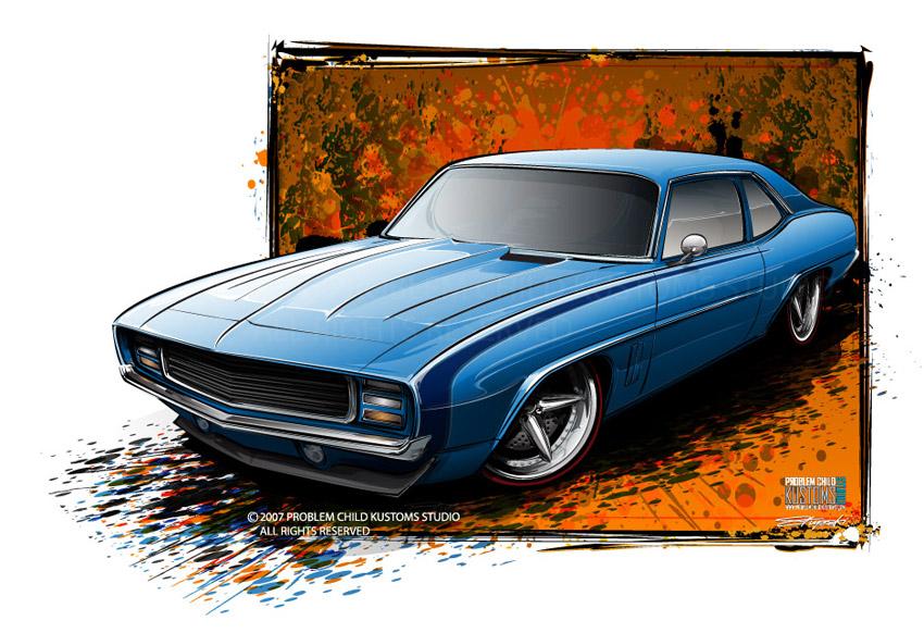 1969 camaro rs front clip