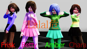 [MMD Undertale And Glitchtale] Lalalove by Setsu1809
