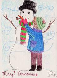Christmas Snowman 2014 by crownlaurel