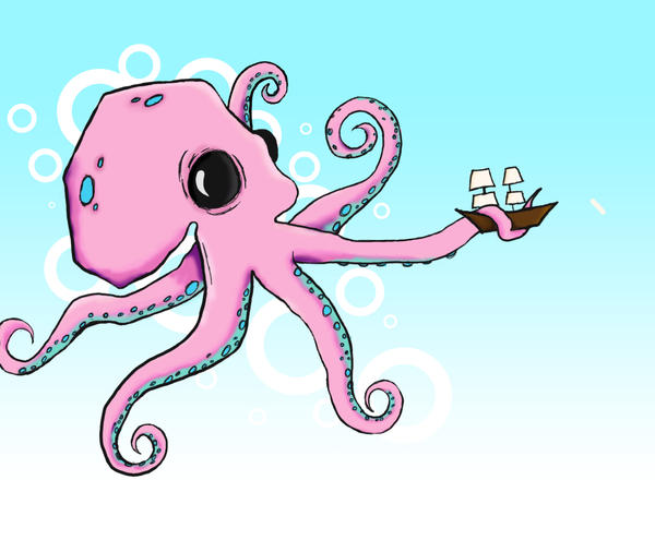 Octopus Drawing By Murderedinthemoshx On Deviantart