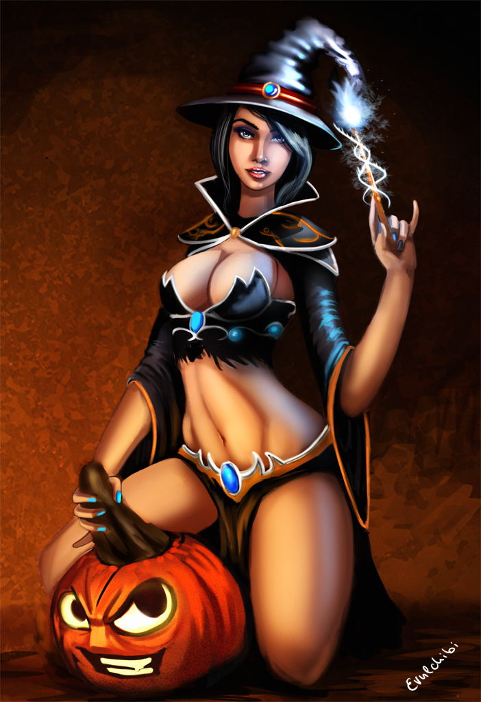 Sexy Halloween Witch Drawing Stock Images - 24 Photos
