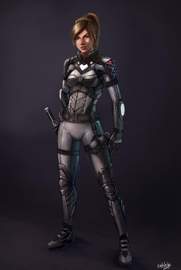 Sci Fi chick by Evulchibi